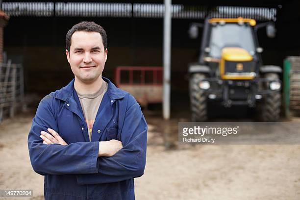 Young farmer on his farm
