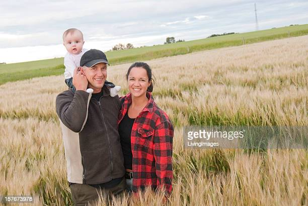 Young Farming Family