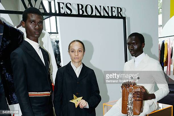 Young Fashion Designer Grace Wales Bonner Winner of Prize attends the LVMH Prize 2016 Young Fashion Designer at Fondation Louis Vuitton on June 16...
