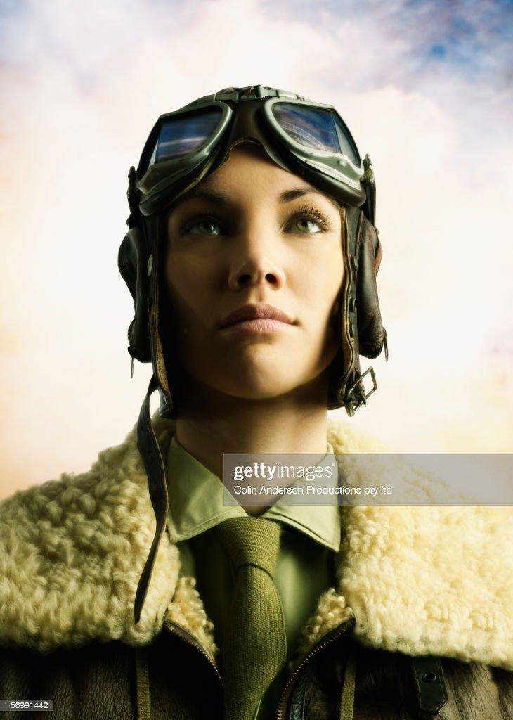 Young female aviator