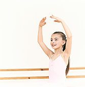 Young, Female Ballet Dancer Practicing in a Dance Studio