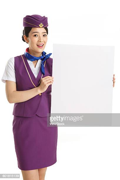 Young female crew took the white board