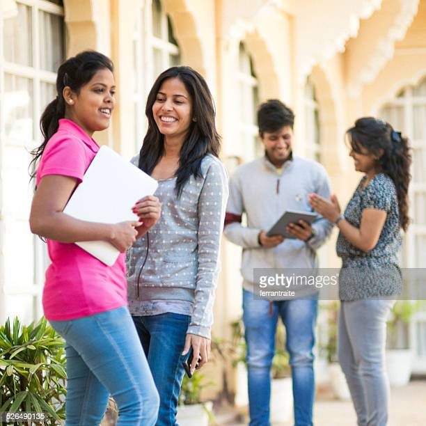 Young female Indian High School Students