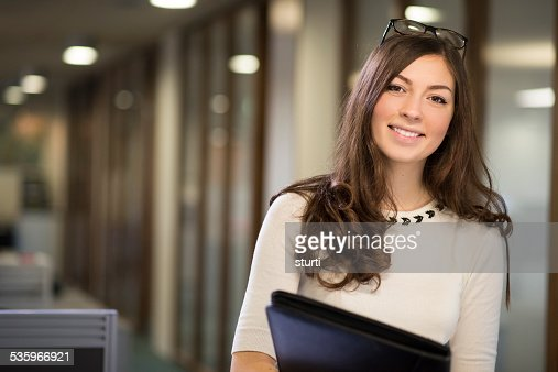 young female office worker : Stock Photo