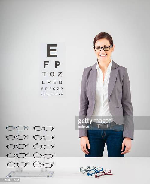 young female optician