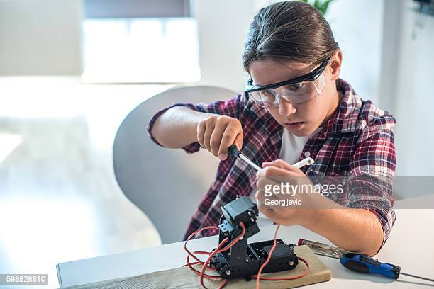 Junge weibliche researcher