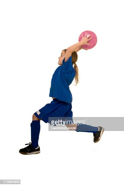 Joven mujer jugador de fútbol