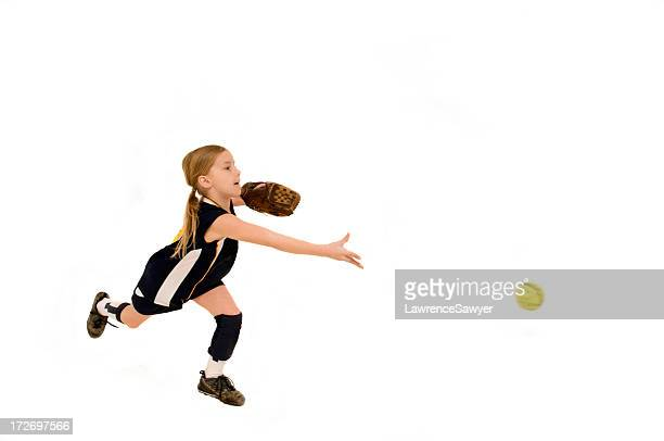 young female softball player