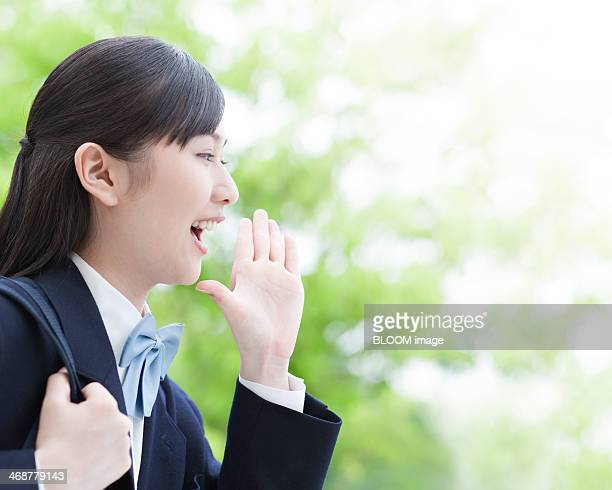 Young Female Student Shouting