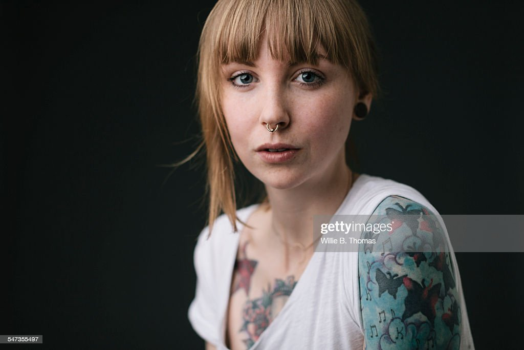 Young Feminist with Tattoos