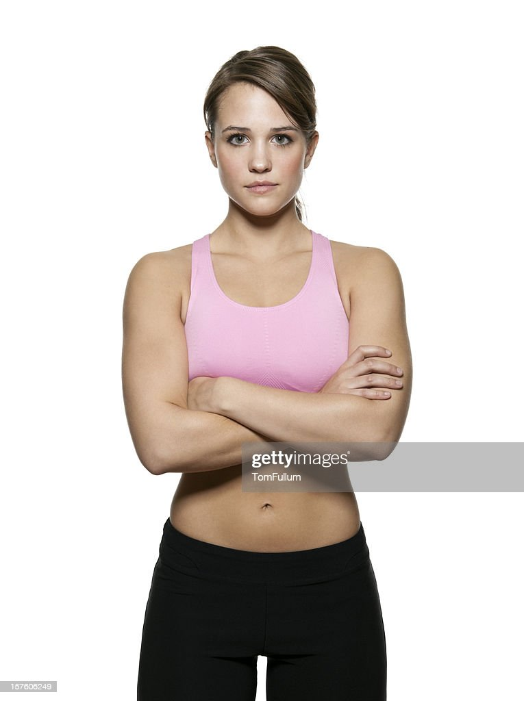 Young Fit Woman in Workout Clothing : Stock Photo