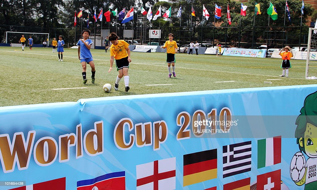 Young football players take part in the Mini World Cup 2010 in Hong Kong on June 6, 2010. The South Africa 2010 World Cup will start on June 11.