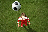 Young footballer waiting for the ball