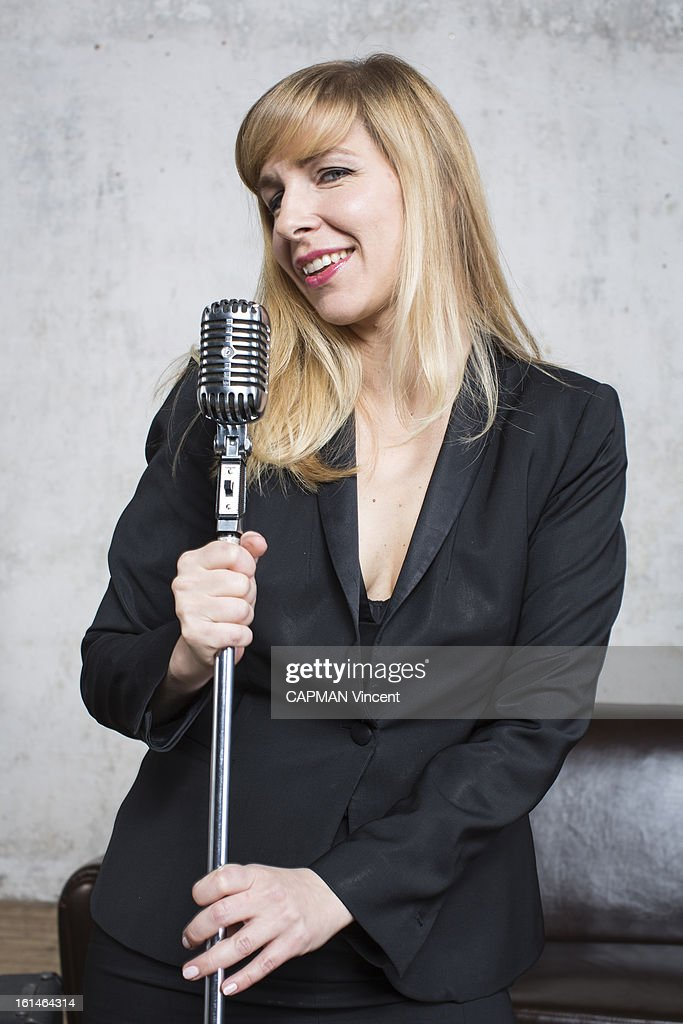 Young french singers in competition for the Victoires De La Musique/ French Music Awards singer Barbara Carlotti poses on February 01, 2013 in Paris, France.
