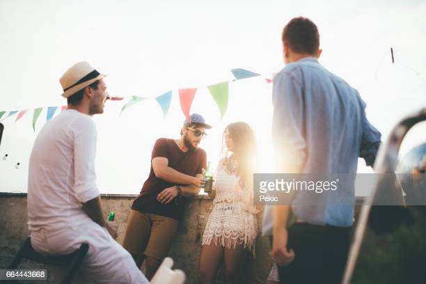 Young friends enjoying at party
