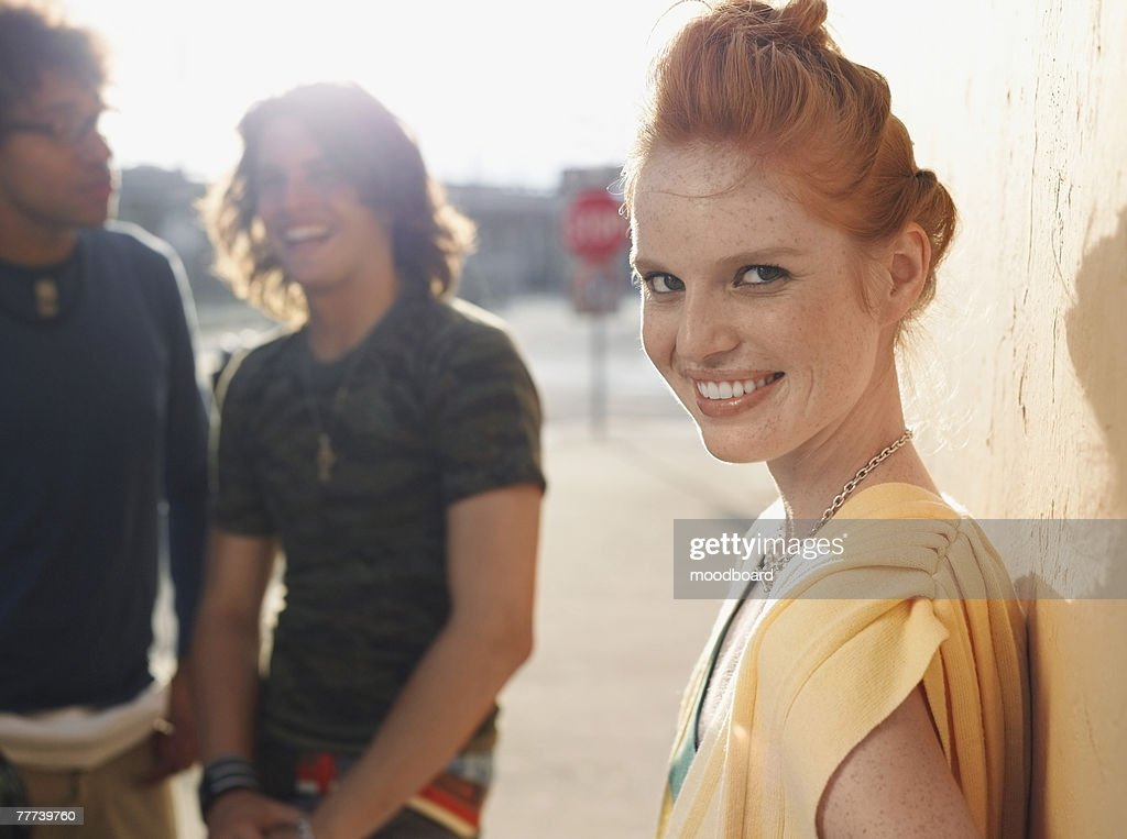 Young Friends Outside : Stock Photo