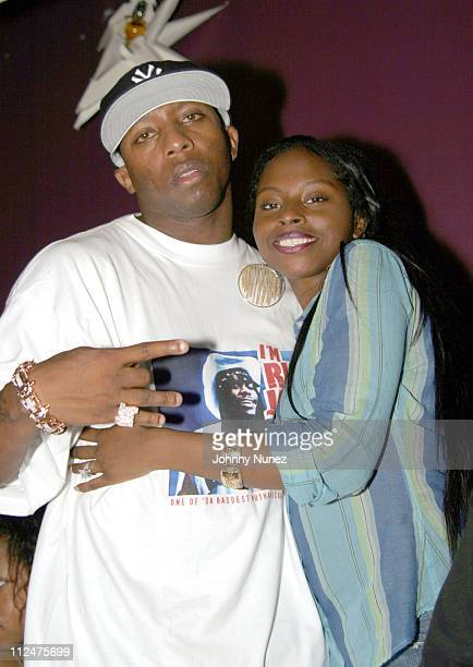 Young Gavin and Foxy Brown during Hyypnotiq Party With DJ Clue and Fabolous at Deep in New York City New York United States