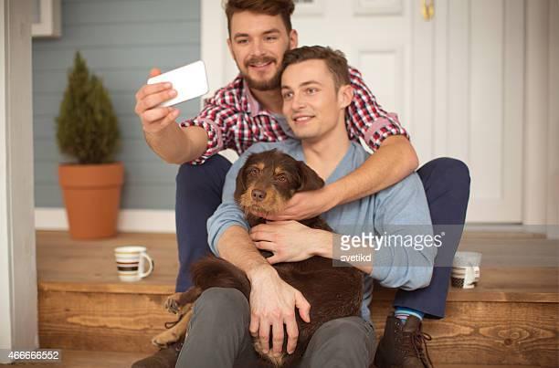 Junge Schwule Paare.