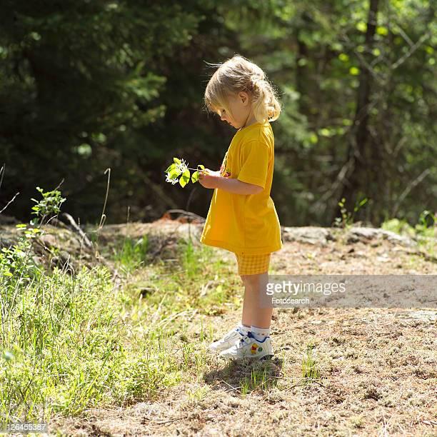 Young Girl Admiring Nature