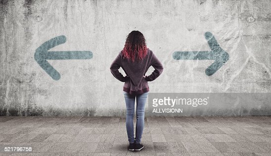 Young girl and arrows : Stock Photo