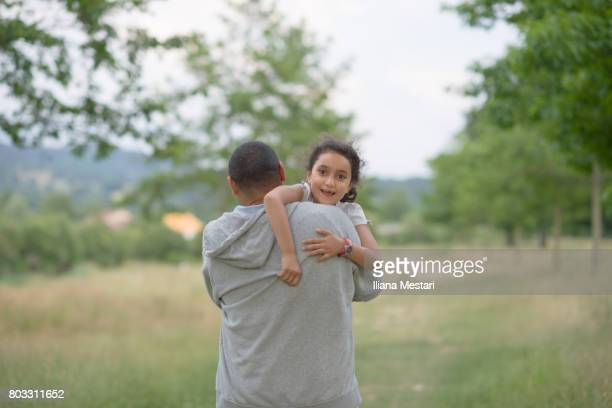 Young girl and her father