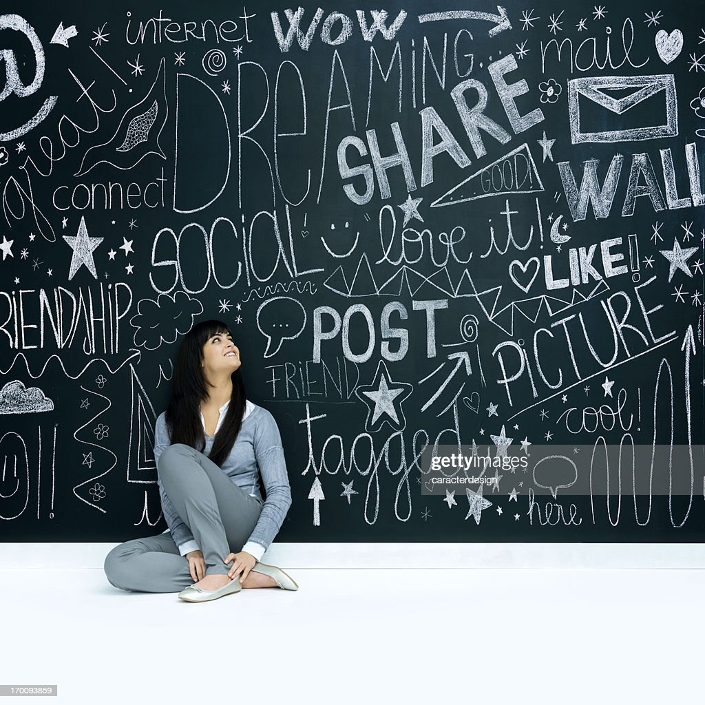 Young girl and social networks
