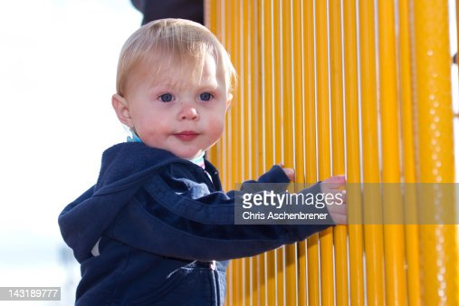 Young girl at playground : Stock Photo