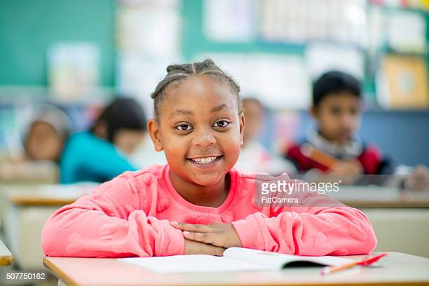 Young Girl Back at School