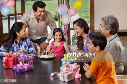 Young girl celebrating her birthday
