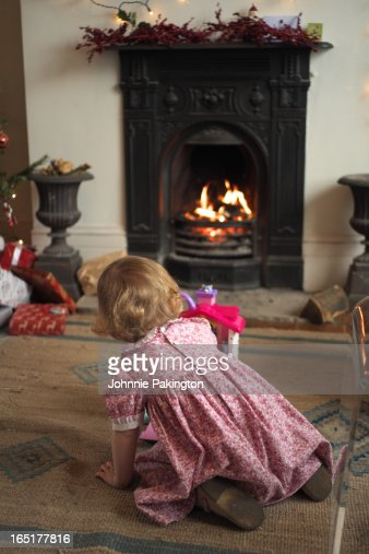Young Girl Christmas Day : Stock Photo
