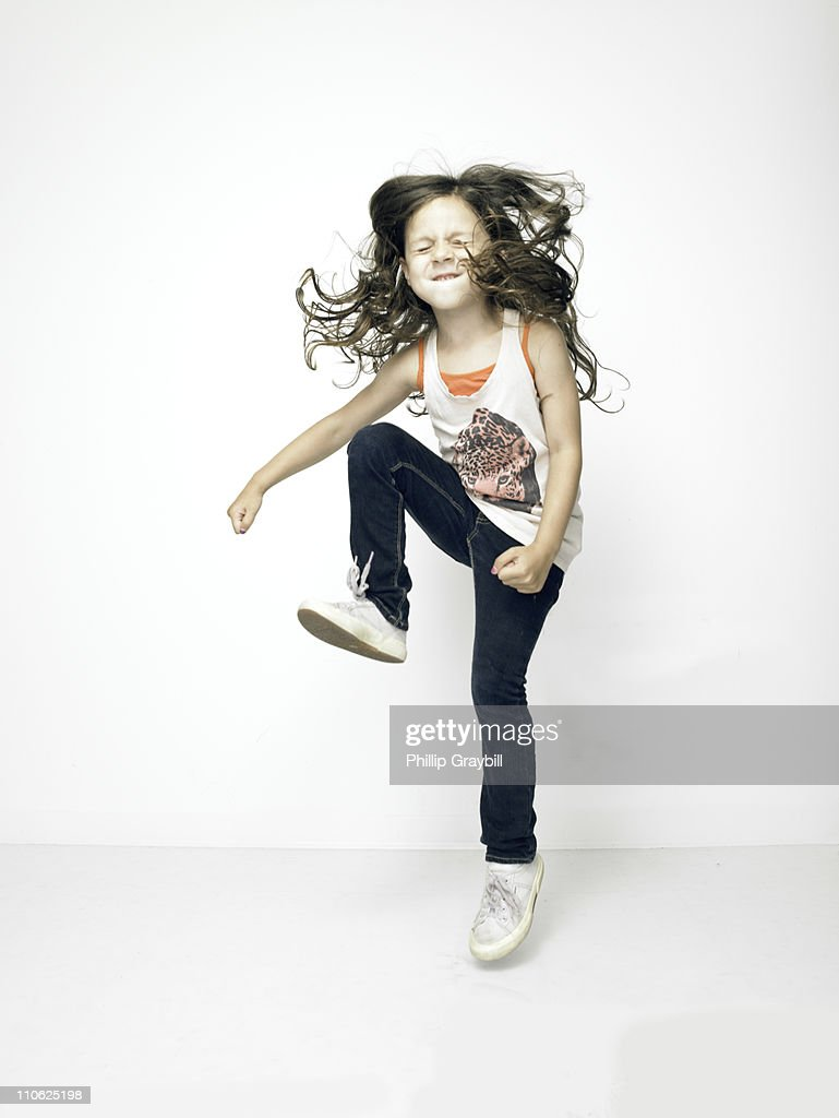 Young girl dancing : Stock Photo