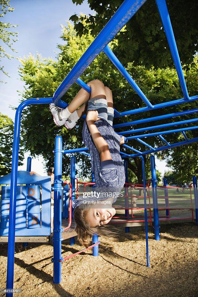 girl hanging upside down nude