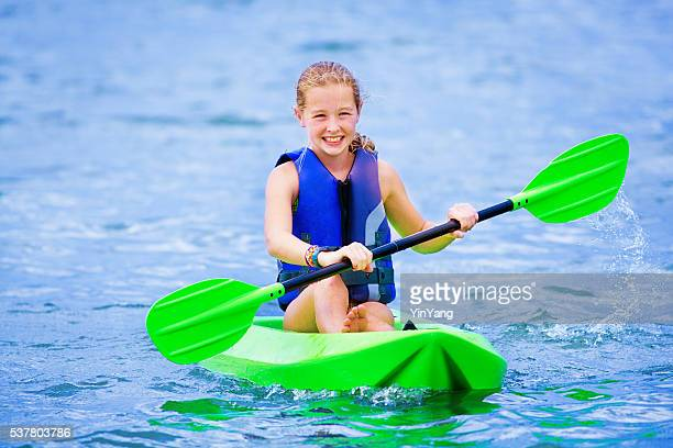 Young Girl Having Fun Kayaking