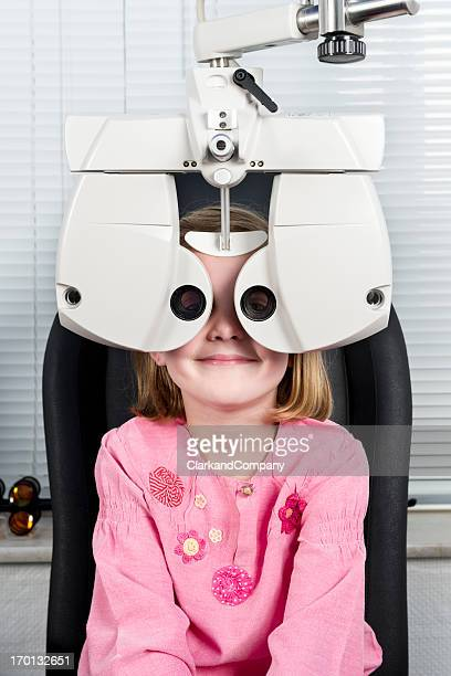 Young Girl Having Her Eyesight Checked