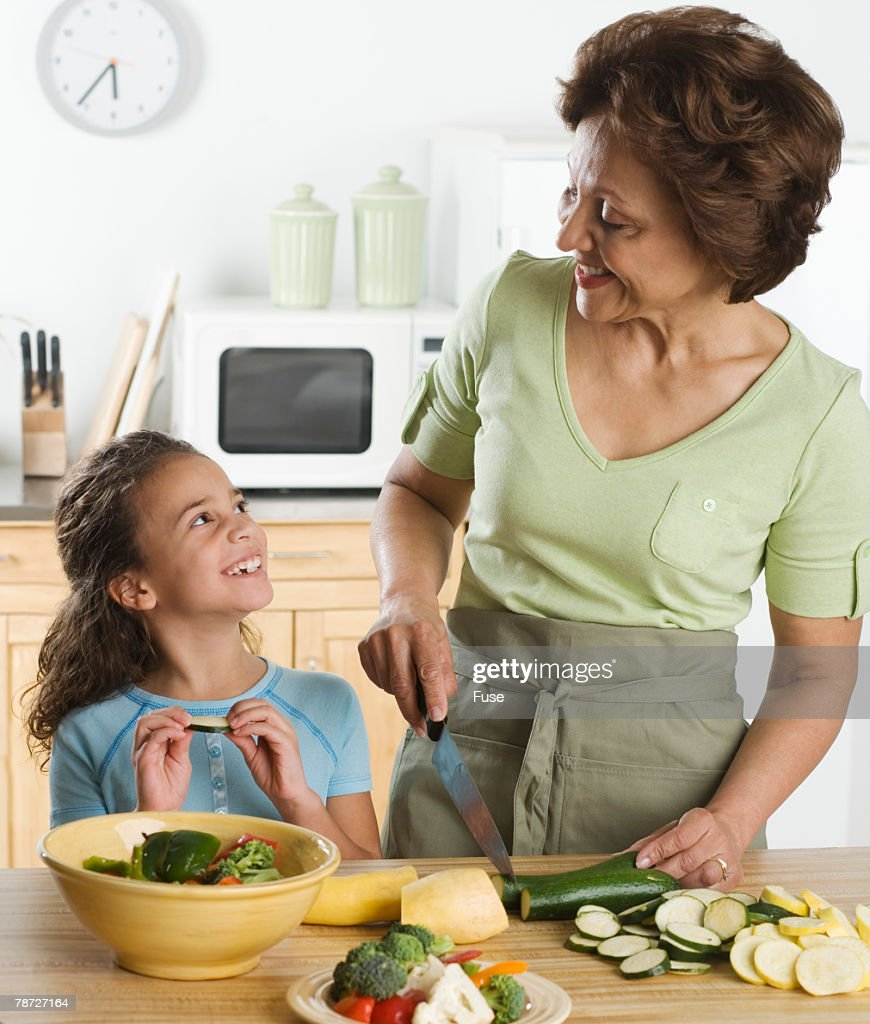 Just one Young girl kitchen