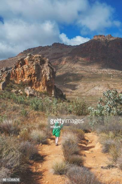少女リア ビュー Kromrivier をハイキング