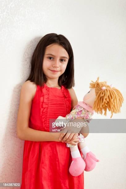 Jovem Menina (10-11) SEGURAR Boneca,