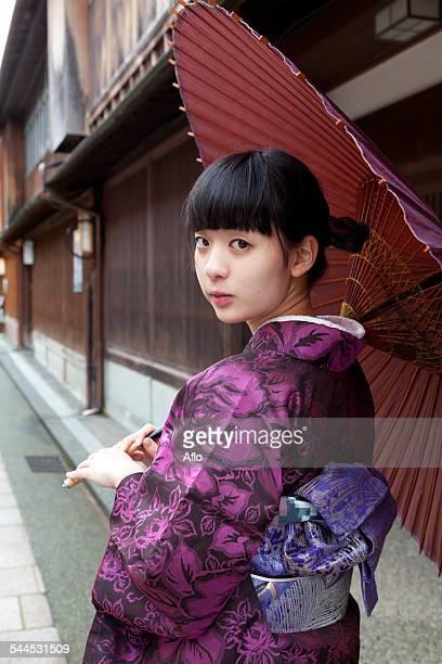 Young Girl In A Kimono