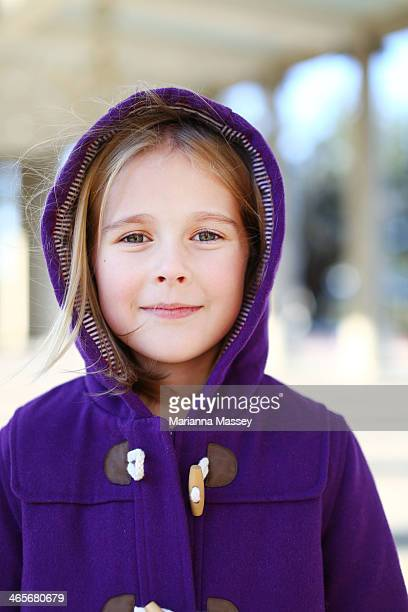 A young girl in a Winter Coat