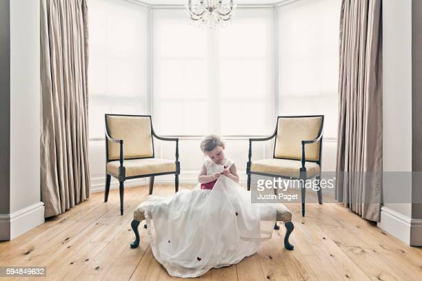 Young Girl in Princess Dress