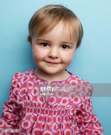 Young girl in studio : Stock Photo