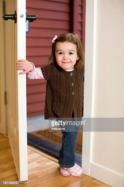 young girl in the doorway