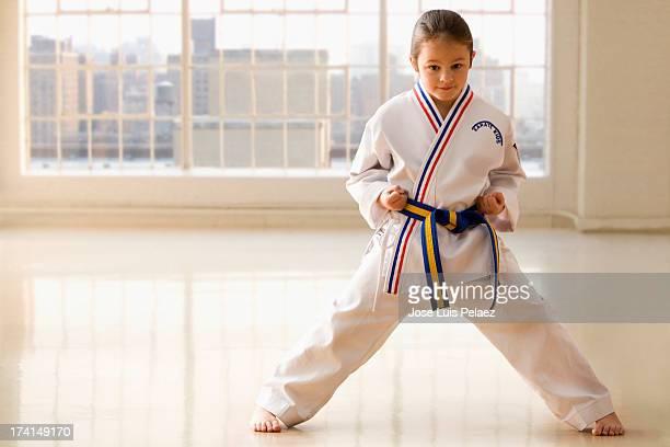 Young girl Karate pose