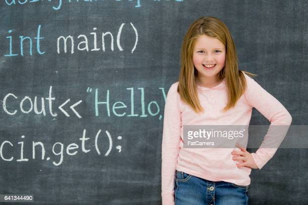 Young Girl Learning to Code