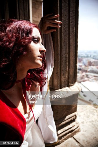 Young Girl looking over the city