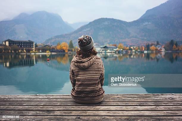 Young girl near the lake