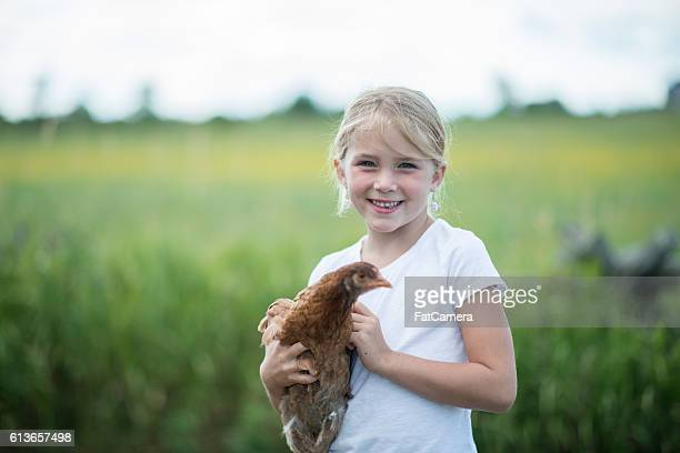 Young Girl on a Farm