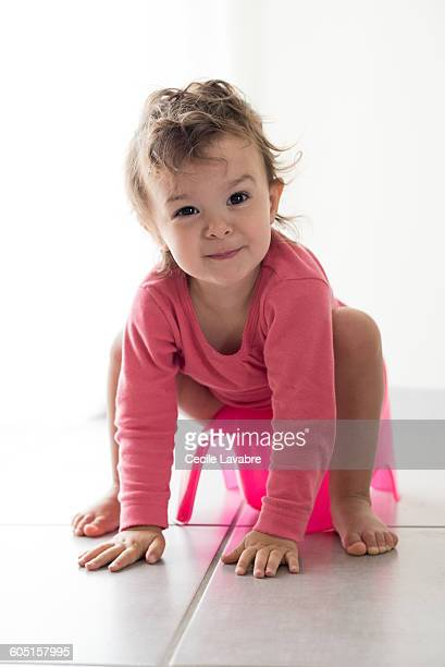 Young girl on potty