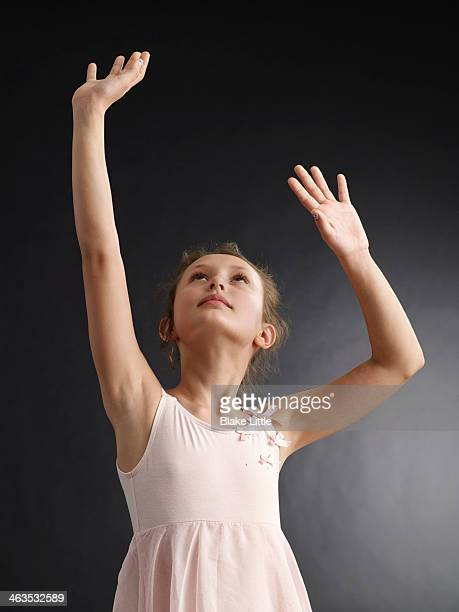 Young Girl Reaching Up , Hands up