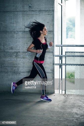Young girl run